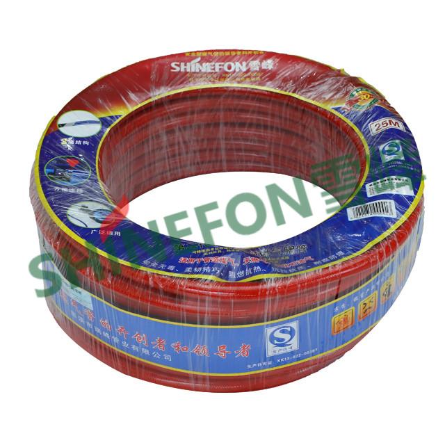 二代透明钢丝管-红色